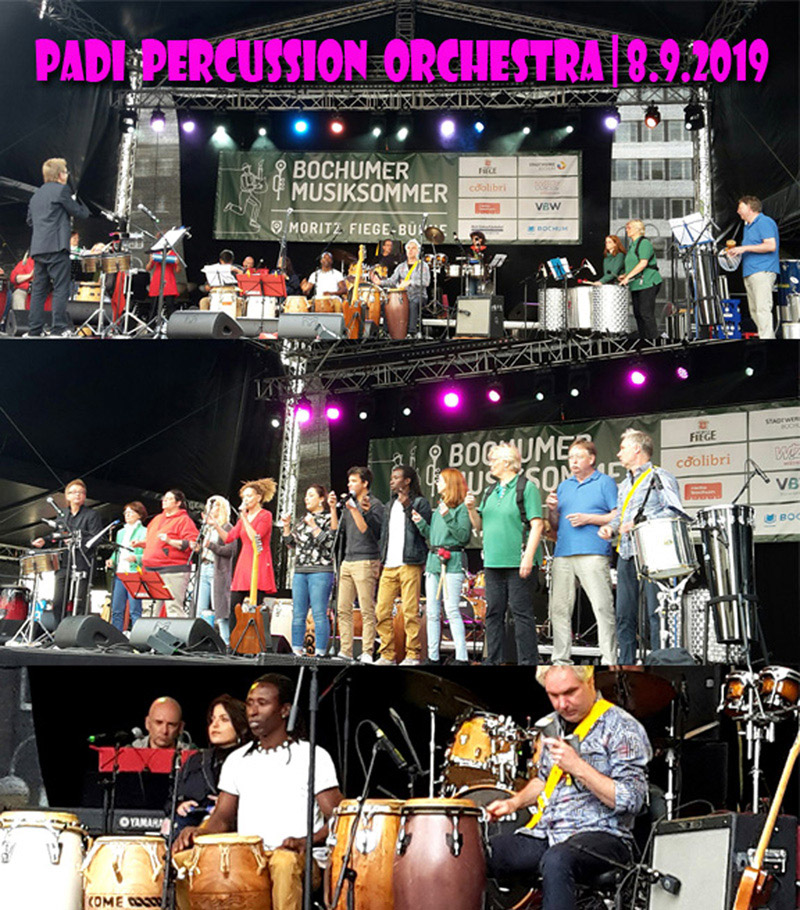 PADI PERCUSSION ORCHESTRA, Live 2019 in Bochum