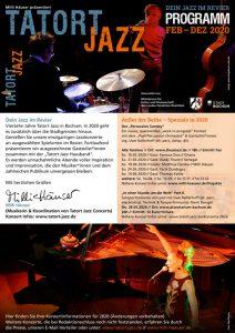 Tatort Jazz – Flyer 2020