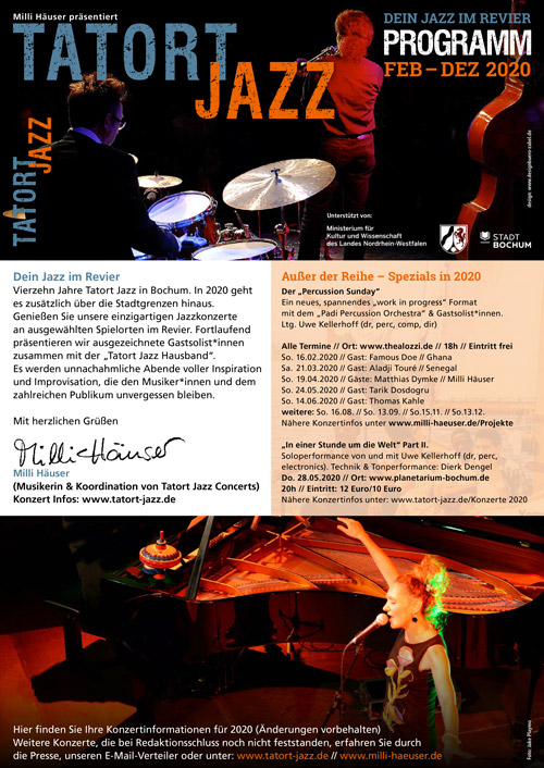 Tatort Jazz – Flyer 2020